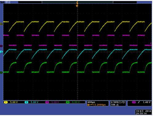 多谐振荡电路充放电波形