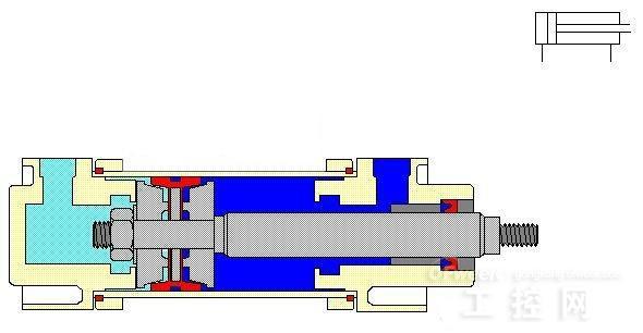 气缸工作原理图图片