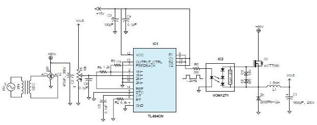 采用光电耦合器的可变高压电源设计