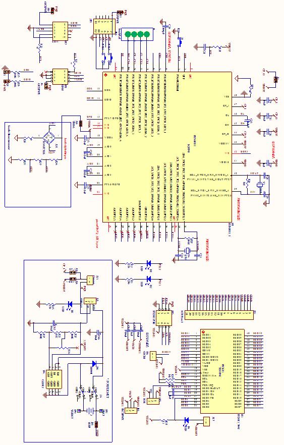 触控温度量测应用内部电路图