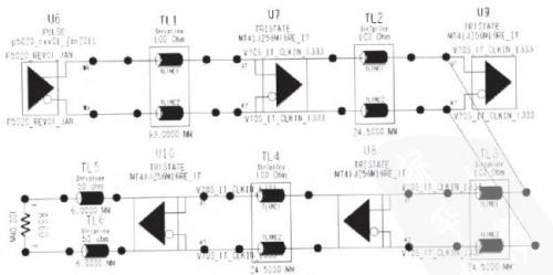 图1时钟线的拓扑结构