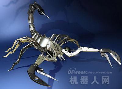 长约50厘米的机器蝎子与其他传统的机器人不同,它没有解决复杂问题